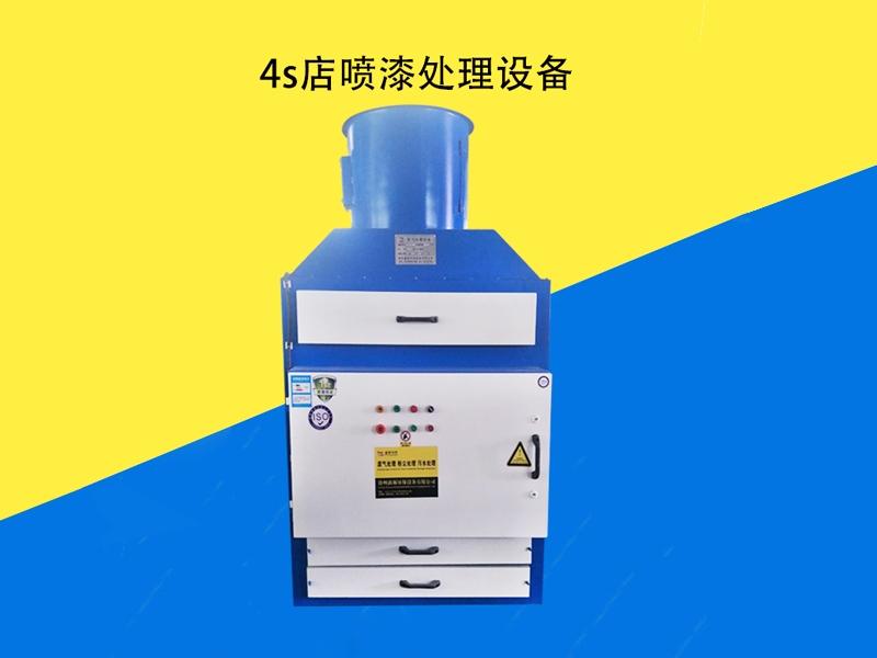 VOC廢氣處理之4s店噴漆處理設備